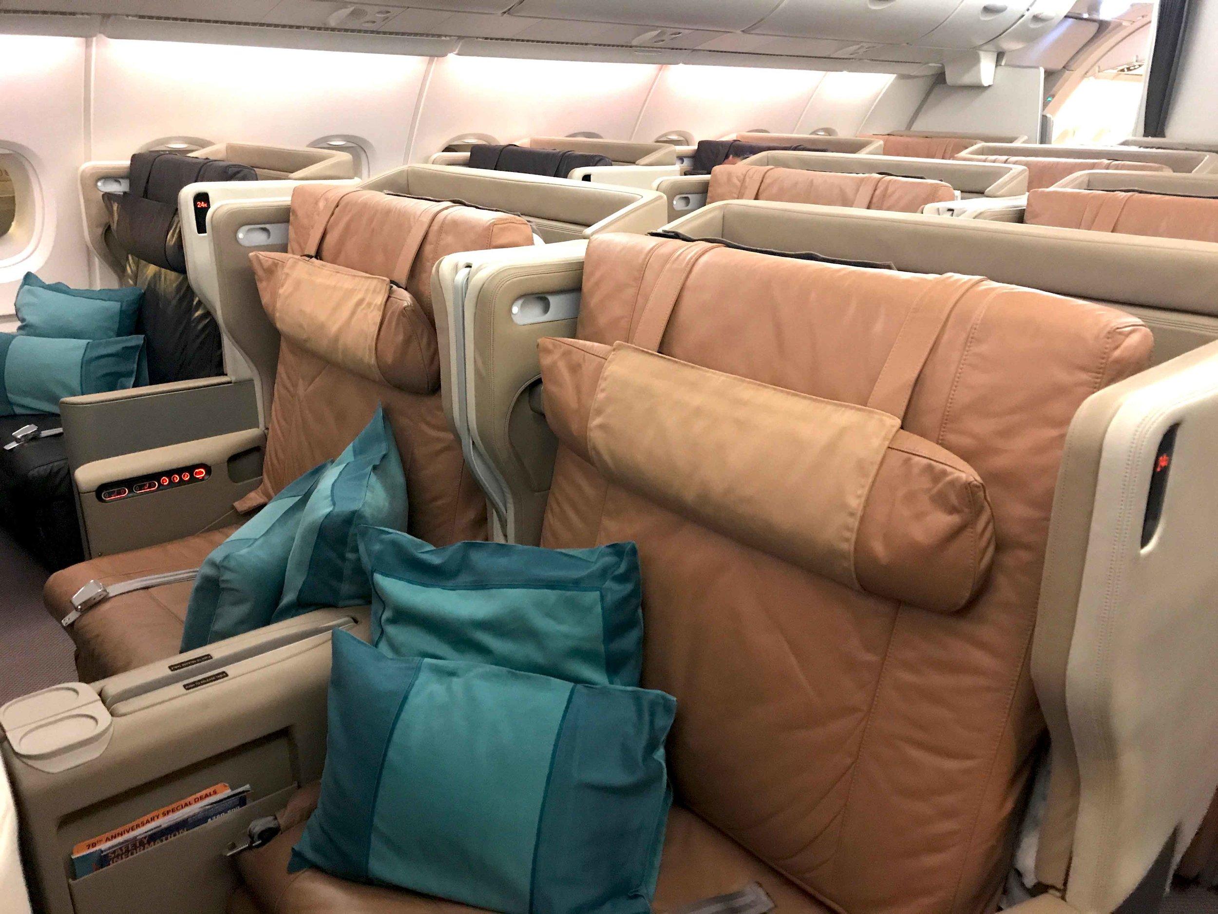 Singapore Air,Delhi to Singapore, Business Class,A380. Image©thingstodot.com
