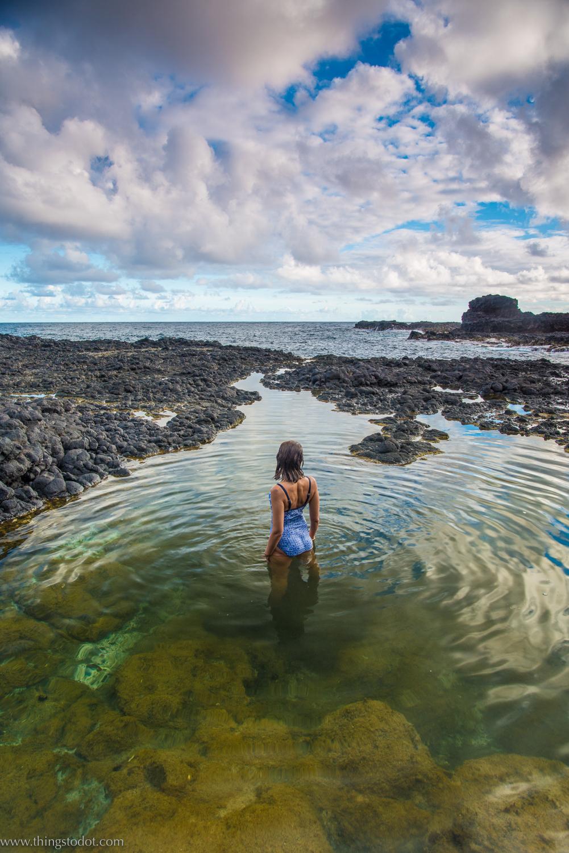 Tide Pool, Secret Beach, Kalihiwai, Kauai, Hawaii, USA. Photo: www.pk-worldwide.com. Image©www.thingstodot.com