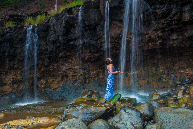 Secret Beach Waterfalls,Kalihiwai, Kauai, Hawaii, USA. Photo: www.pk-worldwide.com. Image©www.thingstodot.com