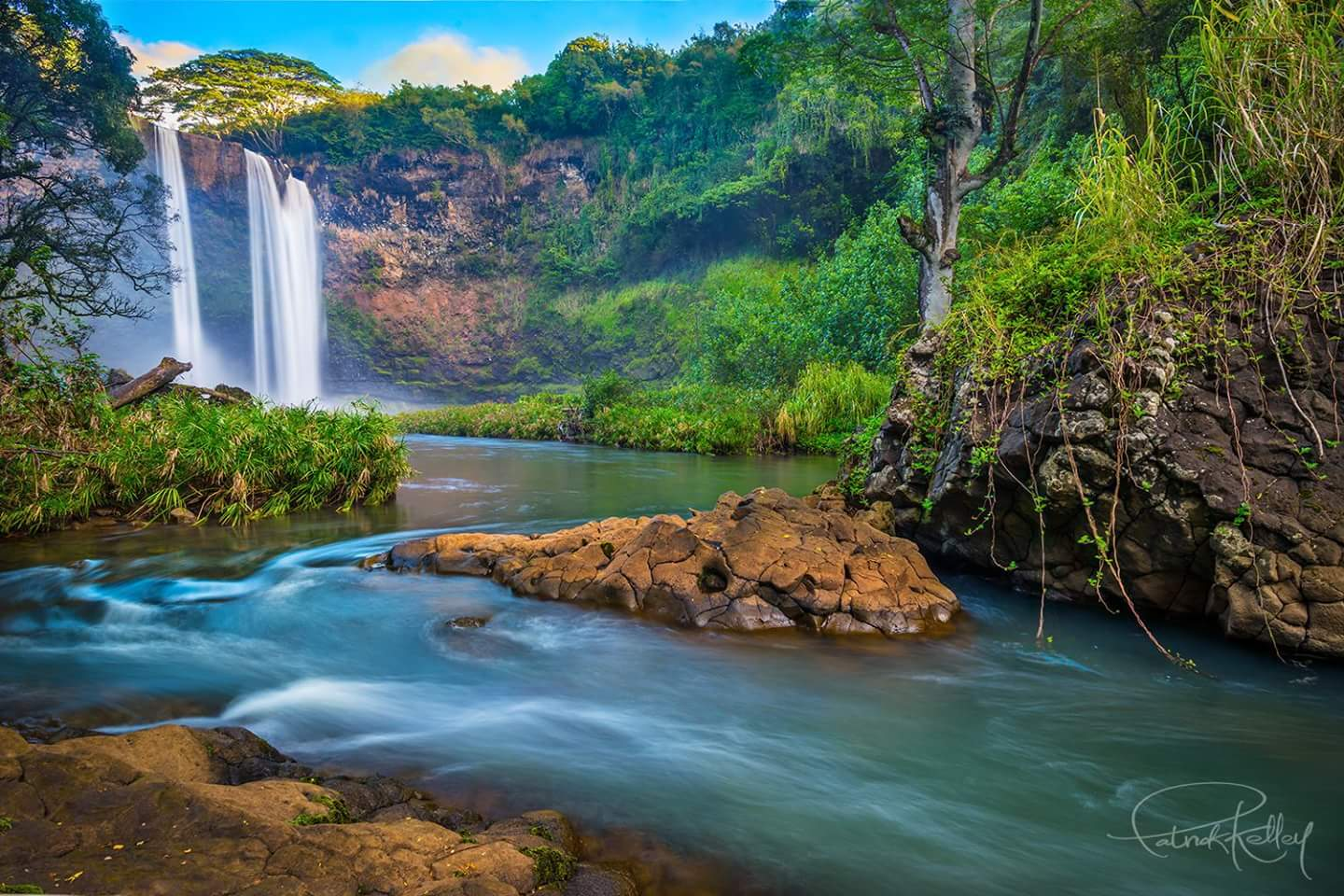 Wailua Falls, Kauai, Hawaii. Photo: www.pk-worldwide.com (Patrick Kelley), Image©Patrick Kelley