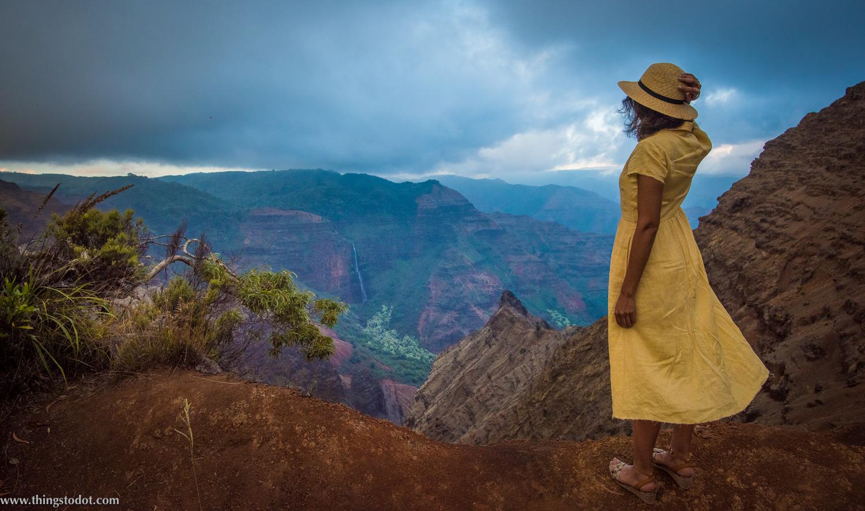 Waimea Canyon Lookout, Kauai, Hawaii. Photo: Patrick Kelley, www.pk-worldwide.com. Image©www.thingstodot.com