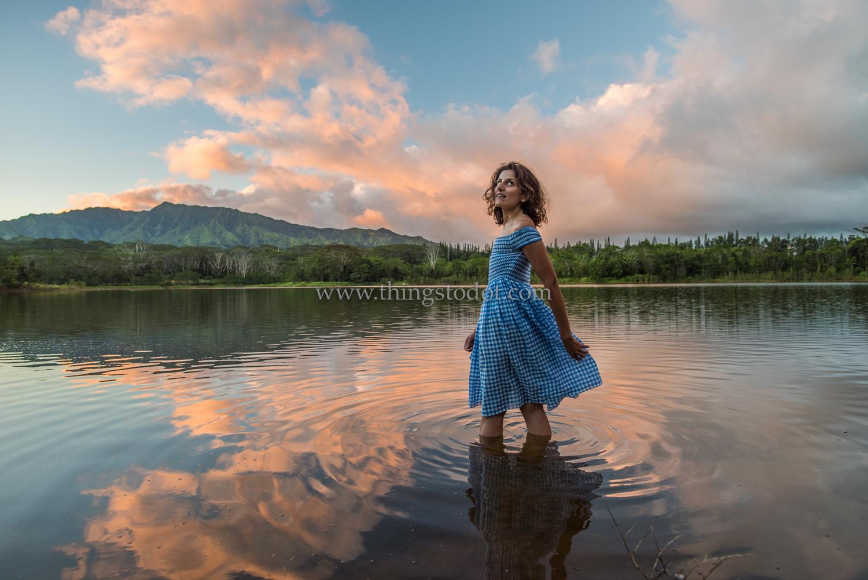 Wailua Lake/Reservoir, Kauai, Hawaii.