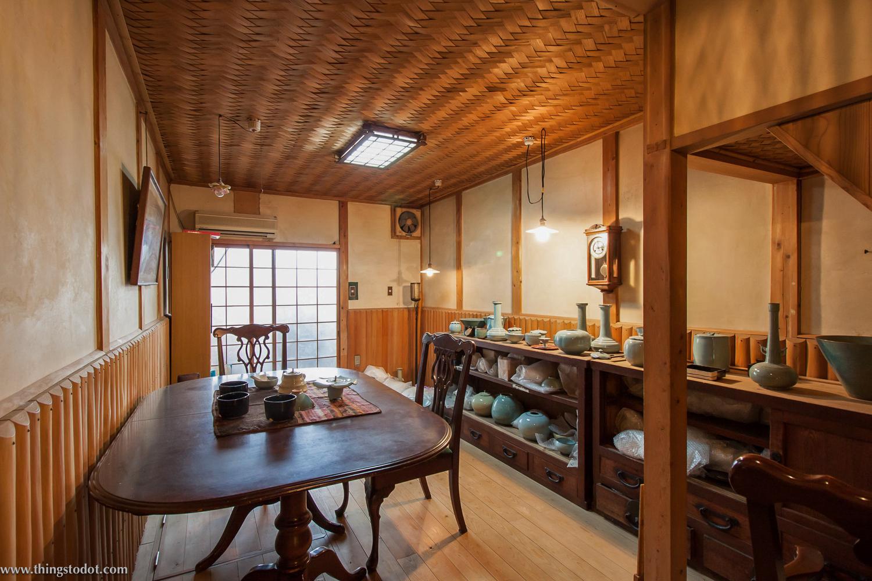 Haraguchi San's pottery studio, Kyoto, Japan.