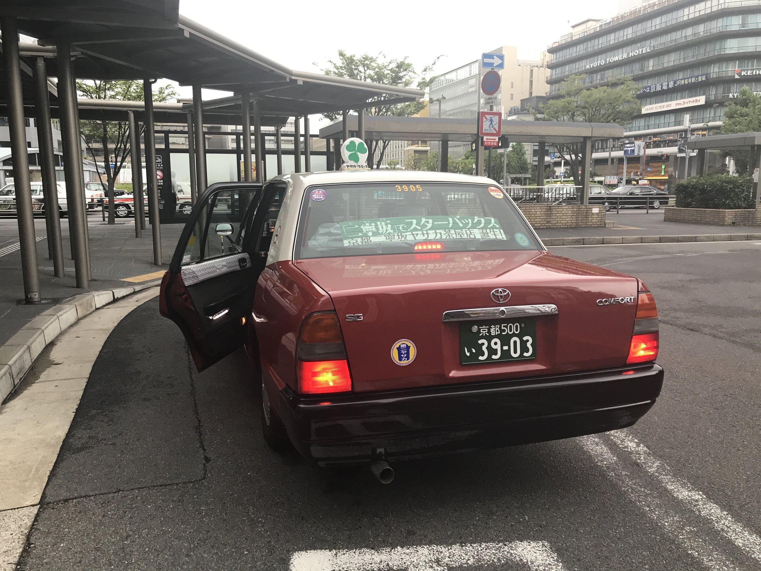 Taxi, Kyoto, Japan. Image©www.thingstodot.com.
