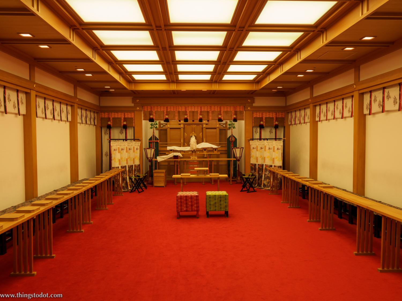 Japanese Wedding Chapel,Imperial Hotel, Osaka, Japan. Photo: Gunjan Virk. Image©www.thingstodot.com.