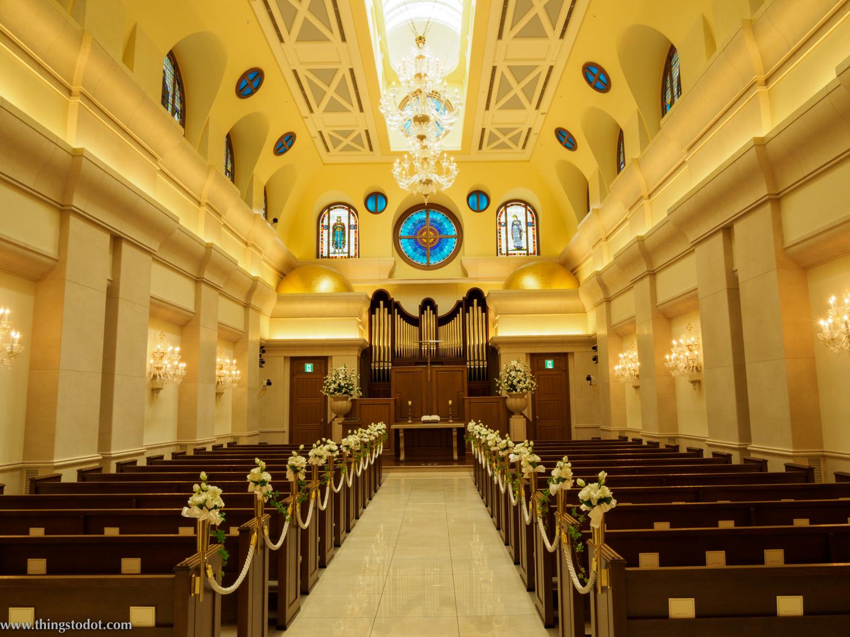 Wedding Chapel, Imperial Hotel, Osaka, Japan. Photo: Gunjan Virk. Image©www.thingstodot.com.