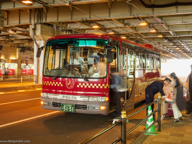 Shuttle service, Imperial Hotel, Osaka, Japan. Photo: Gunjan Virk. Image©www.thingstodot.com.