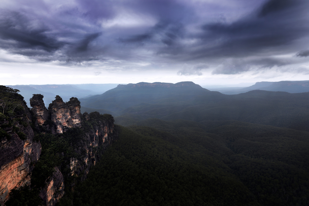 Blue Mountains,Three Sisters, New South Wales, Australia. Photo: Brad Chilby (www.chilby.com.au). Image©Chilby Photography.