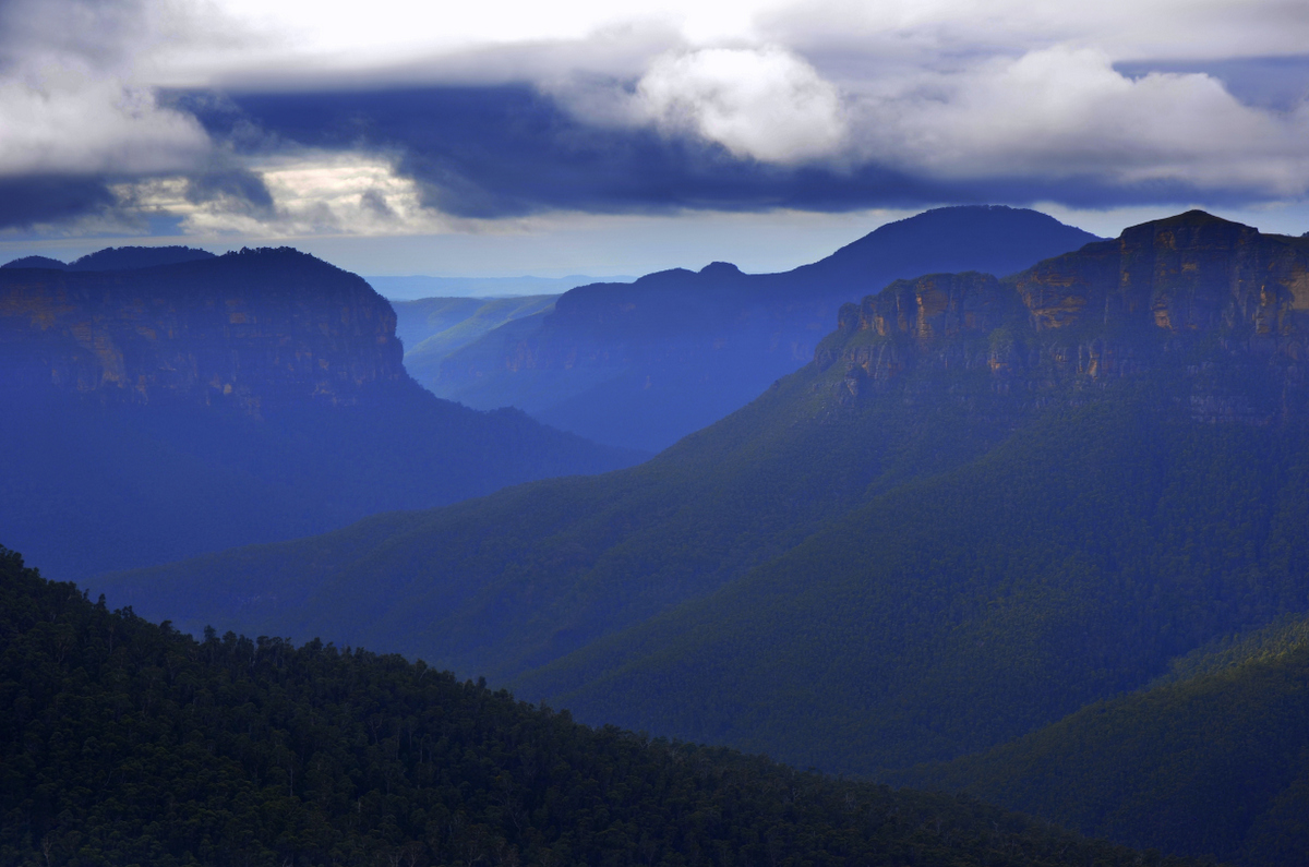 Blue Mountains,Govetts Leap Lookout,New South Wales, Australia. Photo: Brad Chilby (www.chilby.com.au). Image©Chilby Photography.