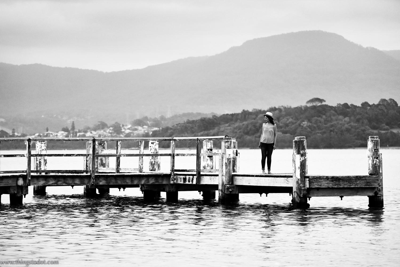 Lake Illawara, Primbee Jetty, NSW, Australia. Photo: Brad Chilby (http://chilby.com.au). Image©www.thingstodot.com. Clothes:https://www.cream-clothing.com.
