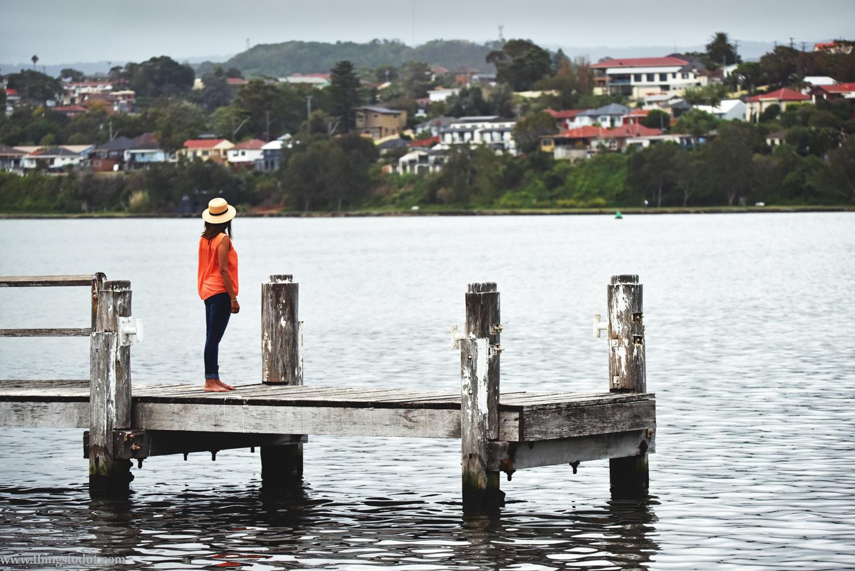 Lake Illawara, Primbee Jetty, NSW, Australia. Photo: Brad Chilby (http://chilby.com.au). Image©www.thingstodot.com. Clothes: https://www.cream-clothing.com.