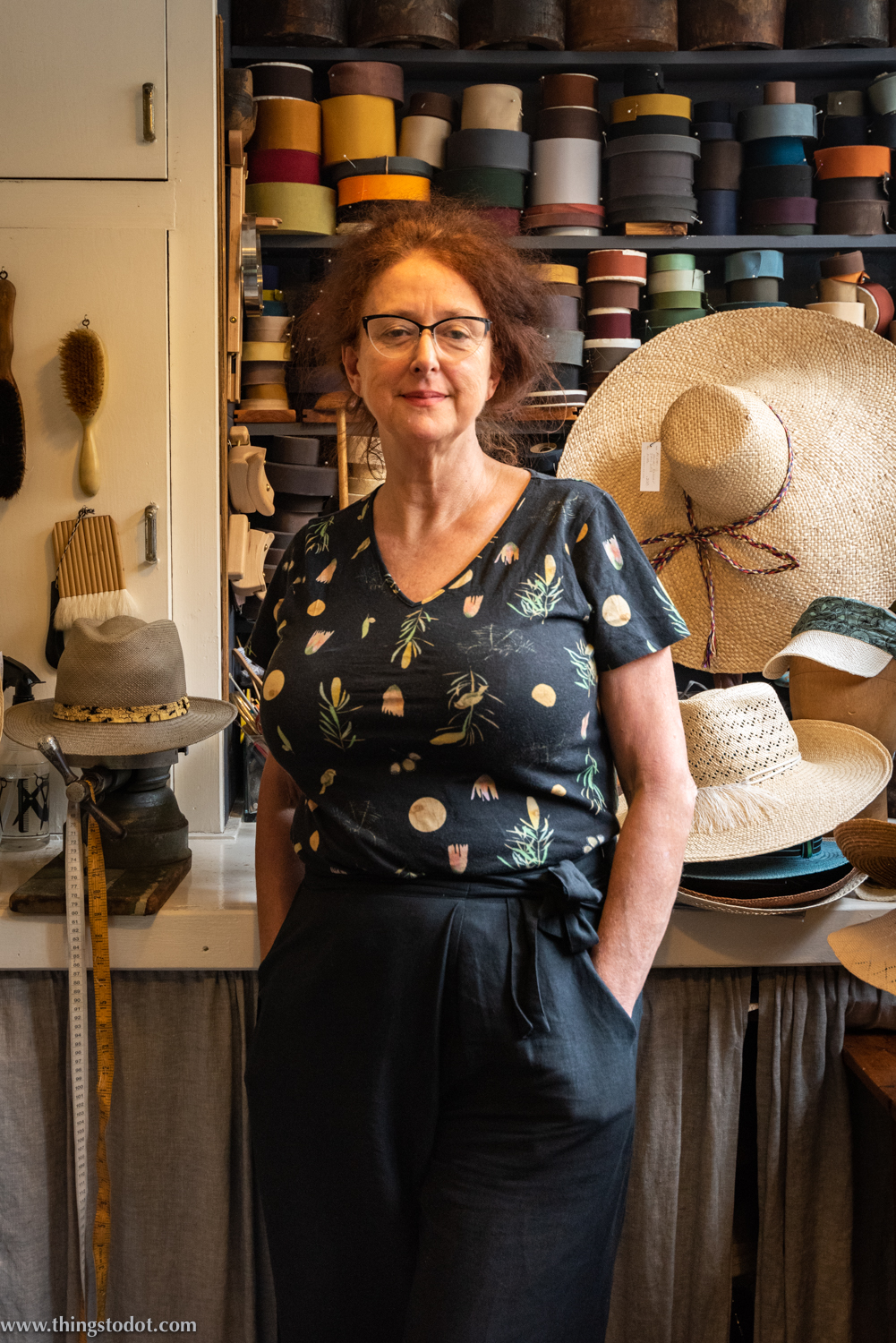 Rosie Boylan, hat maker, Sydney. Photo: Gunjan Virk. Image©www.thingstodot.com.