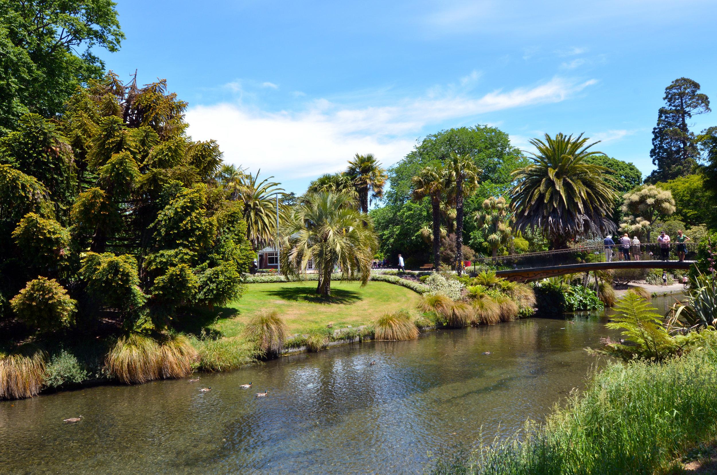 Christchurch Botanic Gardens, New Zealand. Photo: Rafael Ben-Ari, Adobe Stock.
