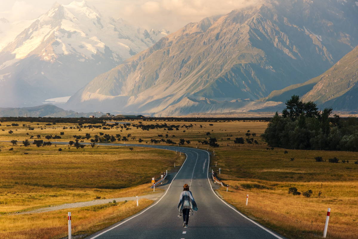 me at mount cook, new zealand. Photo: ROB BROWN