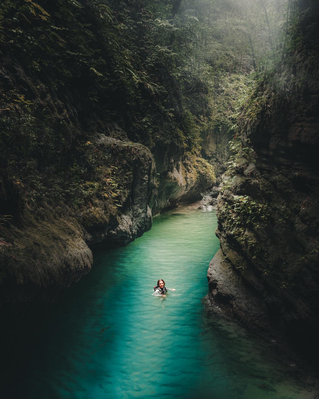 Kawasan Falls Canyoneering, Badian, Cebu, Philippines. Photo: Brad Chilby (https://chilby.com.au/). Photo©www.thingstodot.com.
