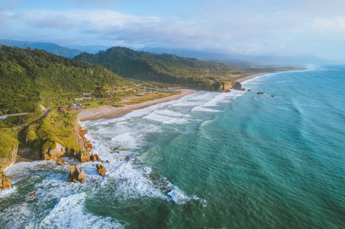 Punakaiki Beach, Punakaiki, New Zealand, West Coast, South Island. Photo by Neil Silverwood. Photo©www.thingstodot.com