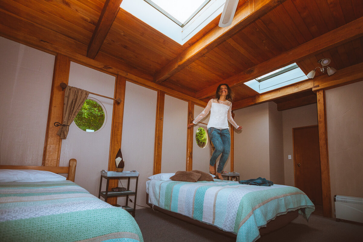 Last Resort Karamea, lodge with ensuite, New Zealand West Coast South Island. Photo: Neil Silverwood. Photo©www.thingstodot.com.