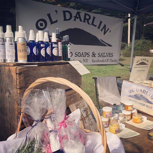 Your favorite Ol Darlin products are here at the Torne Valley Vineyards Autumn Music Festival today until 6:30pm. #bodycare #naturalsoap #herbalsalves #tornevalley #rocklandcounty