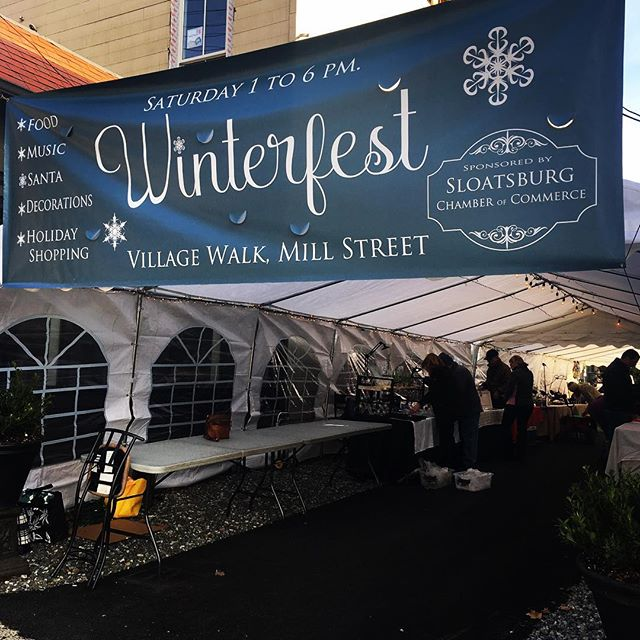 "Winterfest last Saturday Dec. 1st was fun! Set along the ""Village Walk"", a landscaped ally in between Rococo's Salon/Village Blend and the Bike Barn. Holiday shopping with 20 artisan and food vendors, children's craft table, cowboy cauldron, Grinch carnival board, the Hudson Oven wood fired pizza truck, Village Blend Cafe, Valley Rock Inn and Mountain Club were all part of the scene. #villagewalk #sloatsburg #thevillageblend  #valleyrockinn #exploreharriman #explorerocklandcounty"