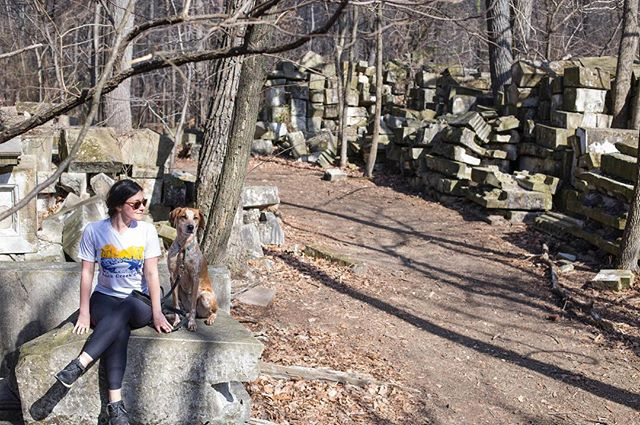 🌲☀️Hope you explored today! We went to a stone yard in the woods of Rock Creek Park. It's an old stock-pile of giant sand stones from the U.S. Capitol that were taken out during a renovation in 1959. 🌲🌲🌲#acreativedc #madeindc #findyourpark #bythings #wearyoulive #themoreyouknow