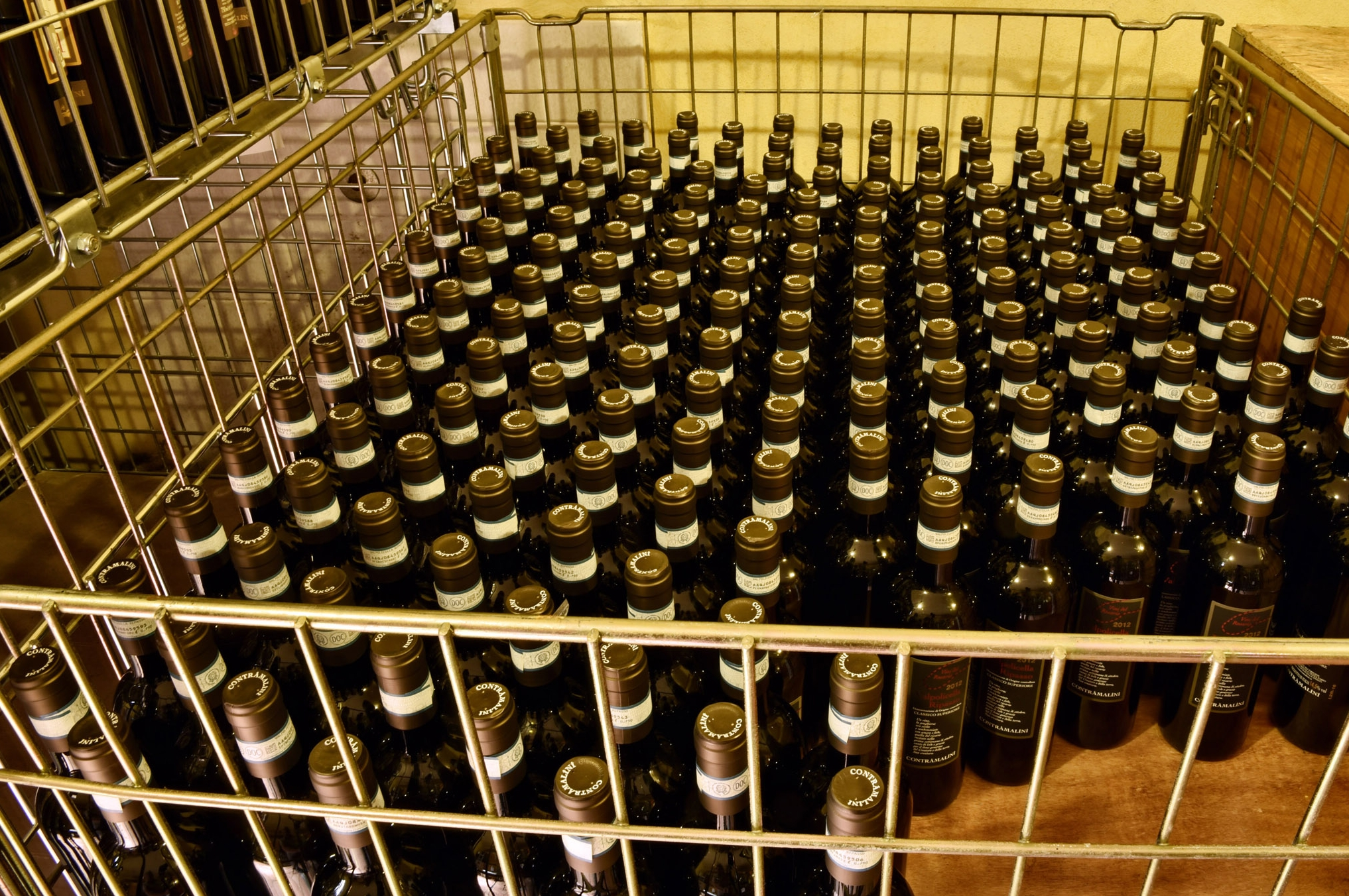 Wine aging in the bottles