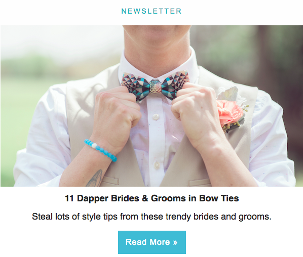 Email newsletters #weddings #email