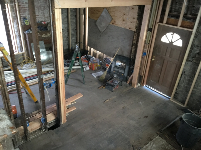 Before: View from Staircase