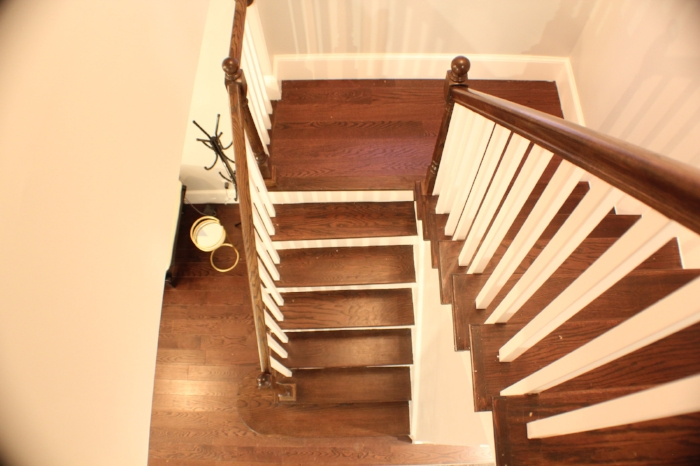 After: Aerial view of the staircase