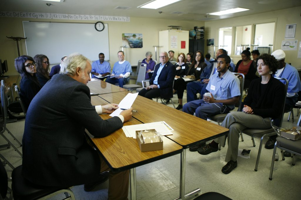 Presenting a paper at the first Prison University Project Conference, San Quentin State Prison, October 2018