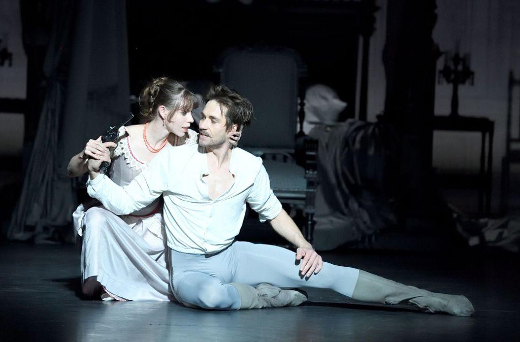 Elisa Badenes and Friedemann Vogel as Baroness Mary Vetsera and Crown Prince Rudolf. Photo by Roman Novitzsky|Stuttgart Ballet