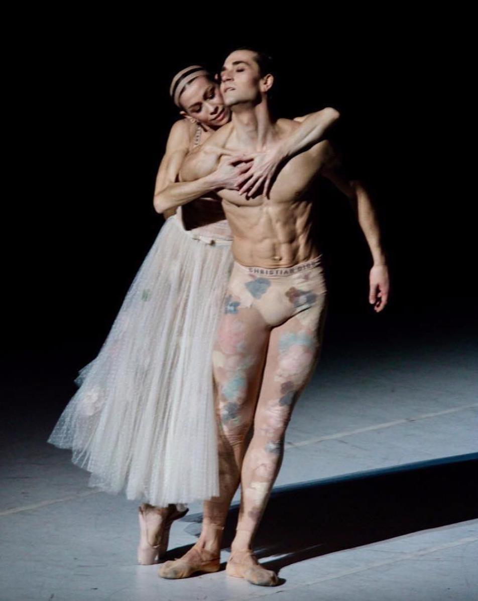 "Friedemann Vogel & Eleonora Abbagnato in ""Nuit Blanche"" wearing costumes by Maria Grazia Chiuri from Christian Dior ©Jean Couturier"