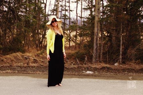 SHOP THE LOOK ::  maxi dress  |  sun hat  |  sunglasses  |  cardigan