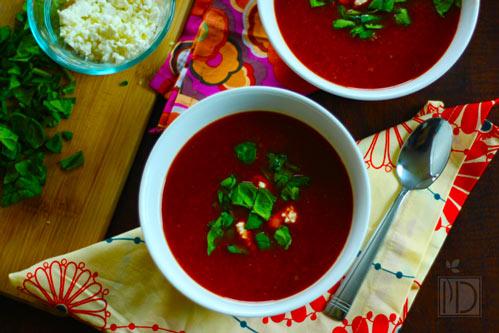 Cumin Scented Beet & Carrot Soup