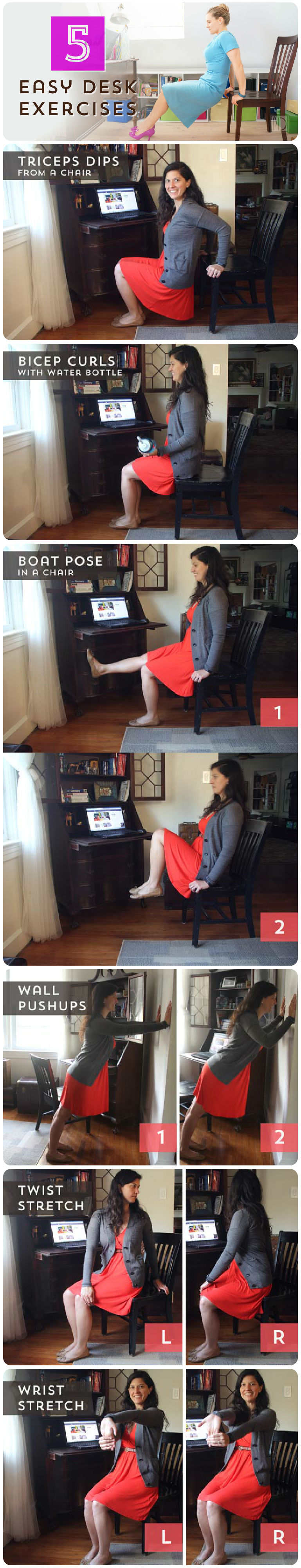 Five Easy Desk Exercises