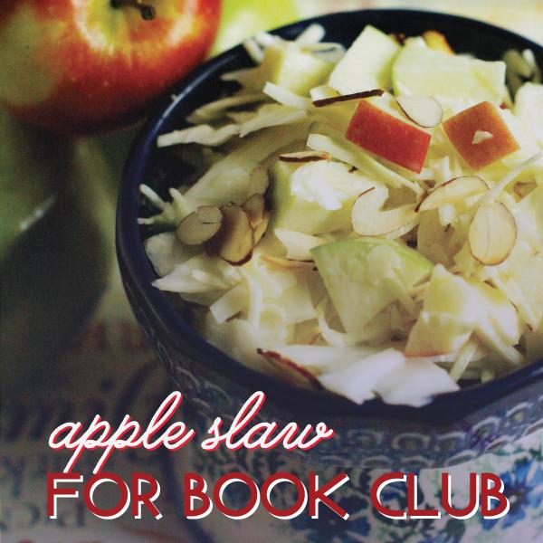 Apple slaw for book club