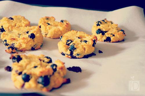 blueberries scones
