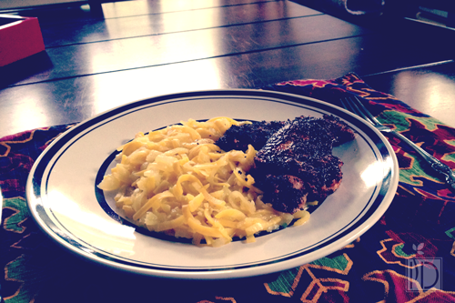 Blackened Ginger Chicken with Spiralized Summer Squash
