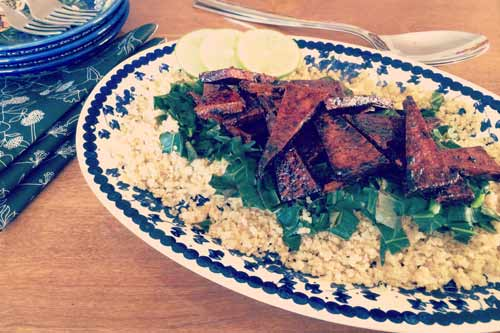 collards tofu