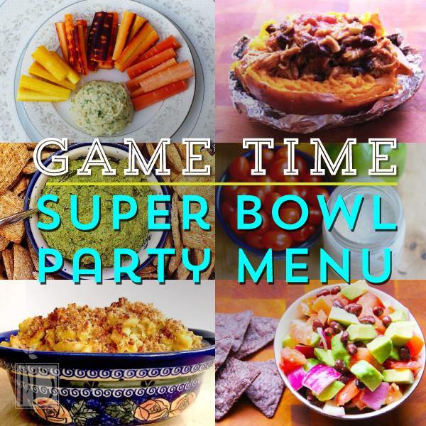 Game Time Super Bowl Party Menu