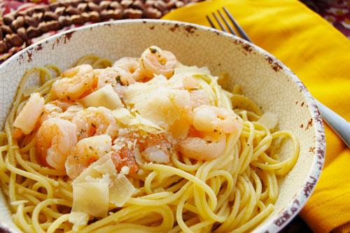 Lemon Spaghetti | Shrimp with Garlic and Lemon
