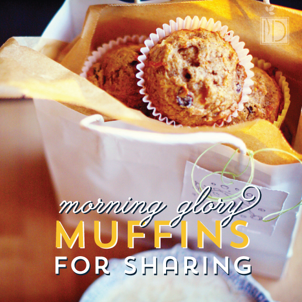 Morning Glory Muffins for Sharing