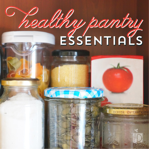 Having a well-balanced pantry means that you have things on hand for snacks and meals and you just have to fill in with perishable items.