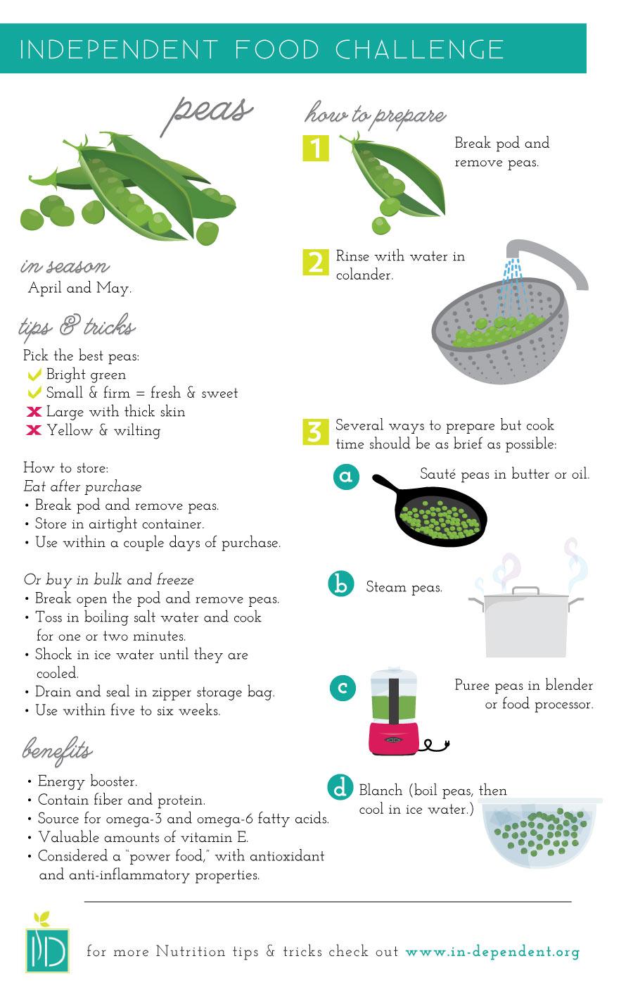 How to prepare peas