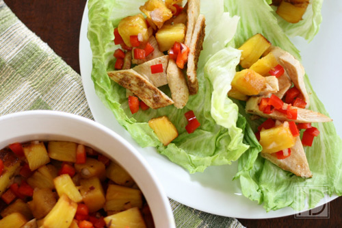 Chipotle Chicken Tacos With Grilled Pineapple Salsa