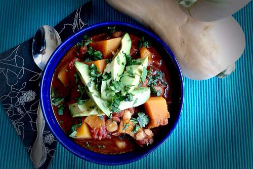 Butternut Squash and Tomato Posole – via Eating Well