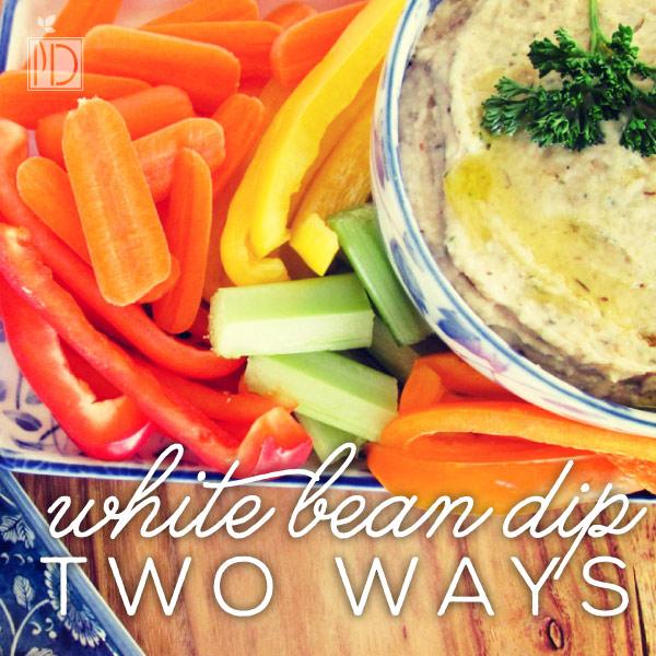 Creamy White Bean Dip - Two Ways: Creamy Ranch and Creamy Italian