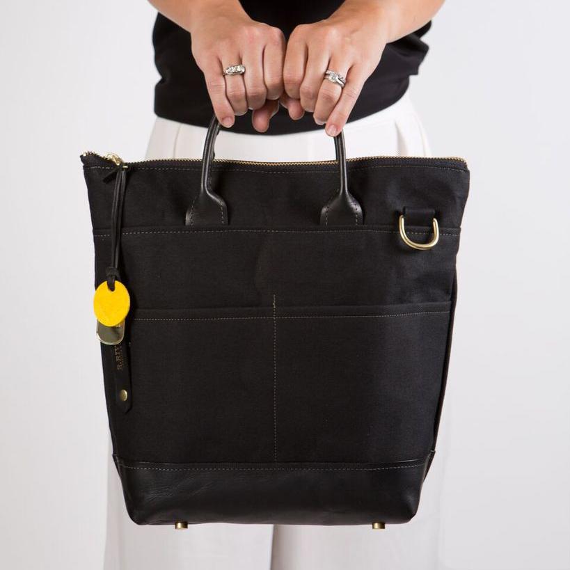 Canvas + Leather Handbag - courtesy of r.riveter