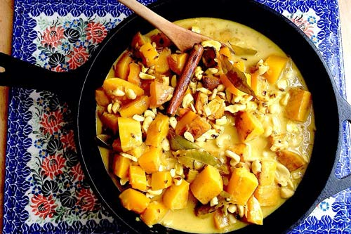 Cashew, Coconut, and Squash Curry - Via Sunset