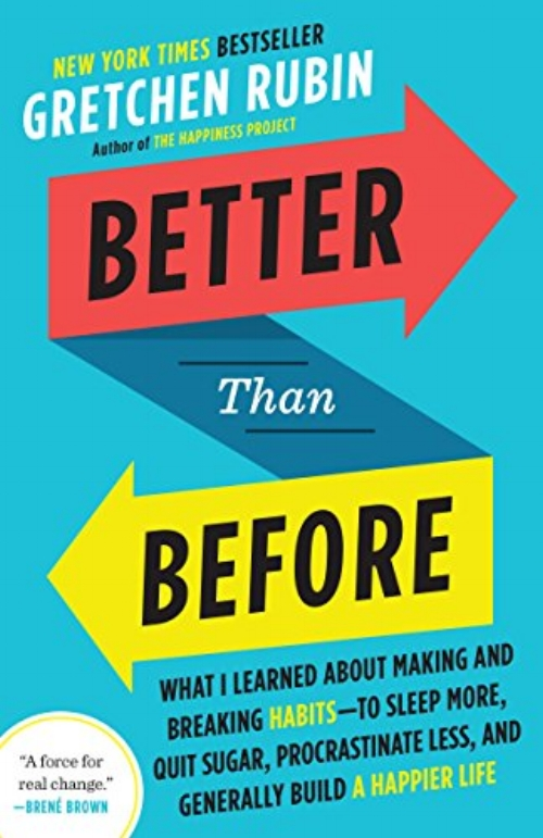 Better Than Before: What I Learned About Making and Breaking Habits--to Sleep More, Quit Sugar, Procrastinate Less, and Generally Build a Happier Life by Gretchen Rubin - Topics: Self-careSo if habits are a key to change, then what we really need to know is: How do we change our habits? Better than Before answers that question. It presents a practical, concrete framework to allow readers to understand their habits—and to change them for good. Infused with Rubin's compelling voice, rigorous research, and easy humor, and packed with vivid stories of lives transformed, Better than Before explains the (sometimes counter-intuitive) core principles of habit formation.
