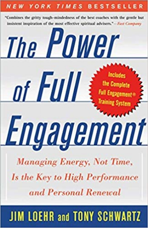 The Power of Full Engagement: Managing Energy, Not Time, Is the Key to High Performance and Personal Renewal by Jim Loehr and Tony Schwartz - Topics: Self-care, Time-ManagementHelping people at work and at home balance stress and recovery and sustain high performance despite crushing workloads and 24/7 demands on their time. Combines the gritty tough mindedness of the best coaches with the gentle-but-insistent inspiration of the most effective spiritual advisers. The Power of Full Engagement is a highly practical, scientifically based approach to managing your energy more skillfully both on and off the job by laying out the key training principles and provides a powerful, step-by-step program. Above all, this book provides a life-changing road map to becoming more fully engaged on and off the job, meaning physically energized, emotionally connected, mentally focused, and spiritually aligned.Click here to read book review.